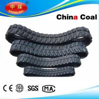 China link belt excavator,Hydraulic Mini Excavator Rubber Track links 450 *60*90 Manufactures