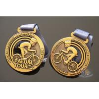 China Bike Sports Marathon Finisher Metal Award Medals Imitation Antique Gold Plating on sale