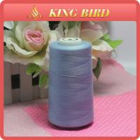 Shiny Blue Low Elongation Sewing Machine Embroidery Thread 50s/2 For Knitting Manufactures