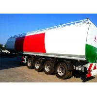 4 Axle 60K Liter Diesel Tank Semi Trailer With First Axle Lifting Aire Bag Spring Manufactures