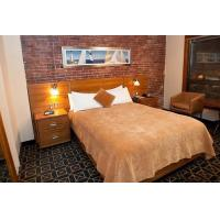 Quality Budget Hotel Bedroom Furniture Laminated Cherry wood Double Bed with Headboard for sale