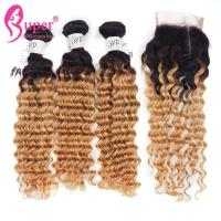 Soft Ombre Brazilian Hair Weave / Dark Brown Ombre Hair Extensions Manufactures