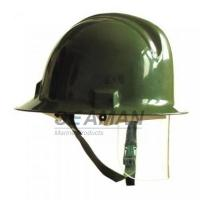Custom Marine Fire Fighting Helmet / Firefighter Rescue Helmet With Face Mask Manufactures