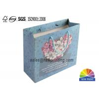 China Luxury Crafted Paper Gift Bags Custom Printed CMYK Paper Carry Bags on sale