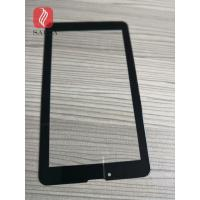 8inch cover glass 1.1mm chemically strengthened black color printed with 2.5D edges for industrail PC touch panel