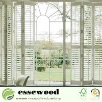 Interior Plantation Style PVC Wooden Window Blinds Shutters Manufactures