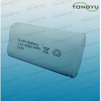 4000mAh C NiMh Rechargeable Battery Pack 2.4V for Cell Phones , Electric Bicycles Manufactures