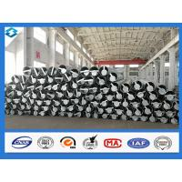 70FT 5mm Thick Q420 Steel Electric Pole Galvanized And Black Tar Painted Manufactures