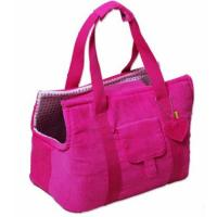 China Fashion Pink nonwoven Pet Carrier Bag with 190T lining for travel or working on sale