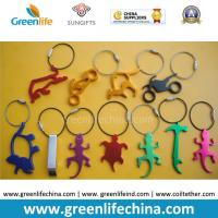 China Hot Selling Metal Bottle Openers w/Stainless Steel Loop Key Chain Holders on sale