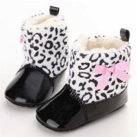 China New fashion PU Leather upper Bowknot girl 0-2 years Princess baby shoes girl on sale