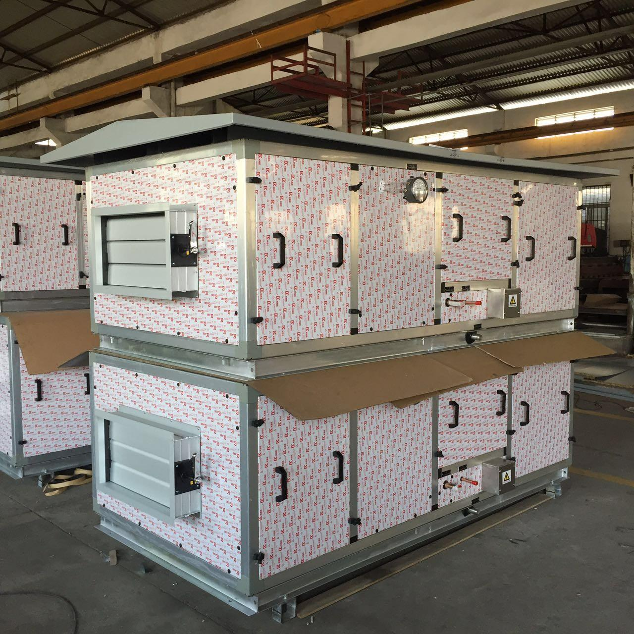 460V / 3PH / 60Hz DX Air Handling Unit with Canopy for Outside Installation Manufactures