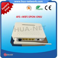 Quality 2017 hottest 4 FE WIFI EPON ONU HZW-E804-W with factory price for sale