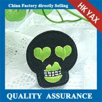 China Supplier Cool Skull shape embroidery patches for garments Manufactures
