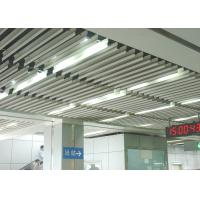 Fashion Plug-in Blade Aluminium Baffle Ceiling J Shaped For Metro Manufactures