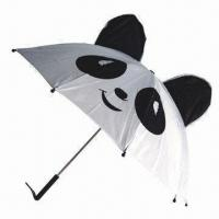 China Panda Look Kid's Umbrella with 170T Polyester Cover and Plastic Handle on sale