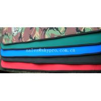 Good flexibility Red / green / black neoprene fabric Roll with polyester coating for sale