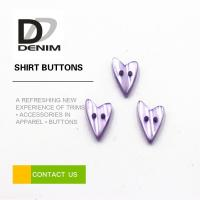 Water Resistant Colored Shirt Buttons Heart Shaped For Women Clothing Manufactures