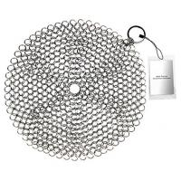 Stainless Steel 316 Wire Mesh Curtain Cast Iron Pan Chainmail Scrubber Round Shape Manufactures