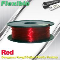 TPU Flexible 3d Printing Filament 1.75 / 3.0 mm  Red and Transparent Manufactures