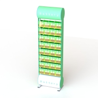 Buy cheap Floor Standing Battery Display Rack Double Sides Metal Pegs Battery Package from wholesalers