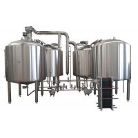 Gas Heating 50BBL 4 Vessel Brewhouse 80MM PU Insulation With Mashing Function Manufactures