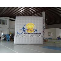 Customized Inflatable advertising helium cube balloon with four sides digital printing Manufactures
