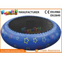 0.9mm PVC Hot Welding Inflatable Water Toys / Blow Up Trampoline With Logo Printing Manufactures
