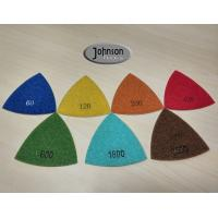 Green Triangle Corner Diamond Floor Polishing Pads , Electroplated Metal Bond Pads Manufactures