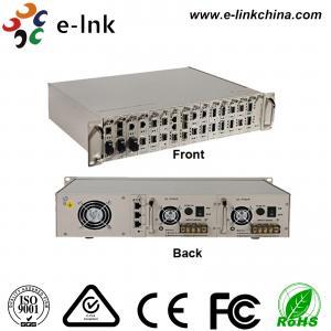 Centralized Manageable Ethernet Fiber Media Converter , 16 Slots Fiber Optic Media Converter Manufactures