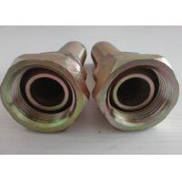 Industry Interlock Swaged Hose Fitting / Galvanized Hydraulic Adapter Manufactures