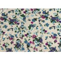 Professional Viscose Rayon Fabric Floral Apparel Fabric 118D+20D Manufactures
