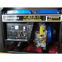 2kva Open Frame Diesel Powered Portable Generators Lightweight Model NO.KDE2500X Manufactures