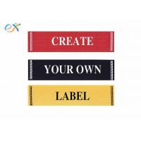 Clothing Fabric Material Damask Custom Ribbons For Name Badges Standard Size Manufactures