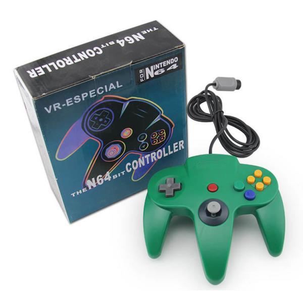 Quality Gamepad Joypad Green Nintendo 64 ControllerHighly Sensitive Motion OEM Avilable for sale