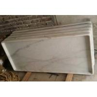 China Non-Slip Marble Shower Base, Guangxi White Marble Shower Tray, China Carrara Marble Shower Tray on sale