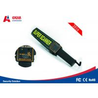 High Sensitivity Handheld Metal Detector Wand , Police Scanner Handheld Manufactures