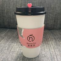 China Hot Drink Paper Cup Sleeve Jacket For Coffee Customized Size Odm Oem Cmyk Full Color on sale