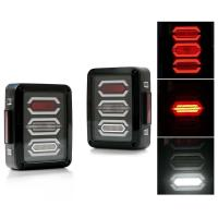 Jeep Smoked LED Tail Lights / Reverse Daytime Running Lamps ABS + PC Material Manufactures