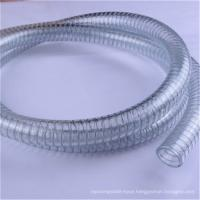 Food grade water suction spring vacuum pvc steel wire reinforced hose pipe Manufactures