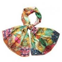 Silk Charmeuse digital Printing Rectangular Scarf Manufactures