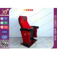Gravity Seat Return Structure Theatre Seating Chairs Tip Up Arm With Cup Hold Manufactures