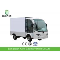 Stainless Steel Container Electric Cargo Van With 2 Seats Customized Dimension Manufactures