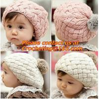 China baby hat kids baby photo props beanie,faux rabbit fur gorros bebes crochet beanie toddler on sale