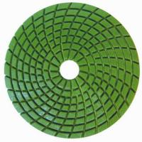 Concrete Wet Polishing Pads / 4inch Diamond Grinding Pads Circle Type Manufactures