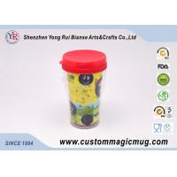 China Big Eco-Friendly Double Wall Plastic Travel Cups With Lids , 12oz/350ml on sale