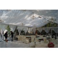 Backyard Transparent Outdoor Party Tents , Clear Party Tent Rentals With Lining Decorations Manufactures