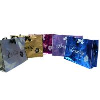 Non Woven Carry Bag , 75g Coated Unwoven Fabric Shopping Bags With Butterfly Bow Manufactures