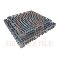 PP Drainage Cell Panels / 300mm*300mm*30mm Geocomposite Wall Drain Manufactures