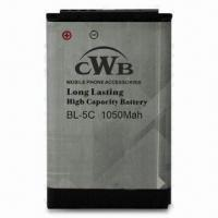 Lithium Polymer Battery for Nokia, with 3.7V Standard Voltage and 1,050mAh Capacity, Eco-friendly Manufactures